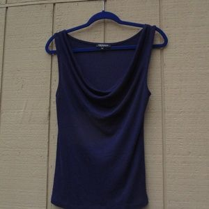 Morgan de Toi Tops - Draped Violet Shell